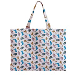 Dinosaurs Pattern Zipper Mini Tote Bag by ValentinaDesign