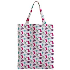 Dinosaurs Pattern Zipper Classic Tote Bag by ValentinaDesign
