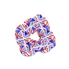 Happy 4th Of July Theme Pattern Velvet Scrunchie by dflcprintsclothing