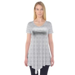 Pattern Short Sleeve Tunic  by ValentinaDesign