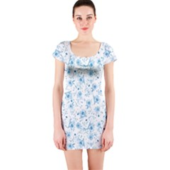 Floral Pattern Short Sleeve Bodycon Dress by ValentinaDesign