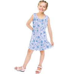 Floral Pattern Kids  Tunic Dress by ValentinaDesign