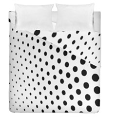 Polka Dot Black Circle Duvet Cover Double Side (queen Size) by Mariart