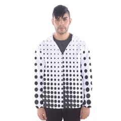 Comic Dots Polka Black White Hooded Wind Breaker (men) by Mariart