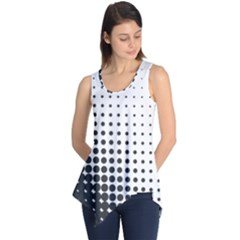 Comic Dots Polka Black White Sleeveless Tunic by Mariart