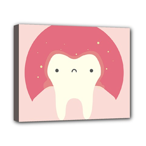 Sad Tooth Pink Canvas 10  X 8