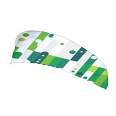 Generative Art Experiment Rectangular Circular Shapes Polka Green Vertical Stretchable Headband by Mariart