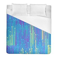 Vertical Behance Line Polka Dot Blue Green Purple Duvet Cover (full/ Double Size) by Mariart