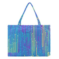 Vertical Behance Line Polka Dot Blue Green Purple Medium Tote Bag by Mariart