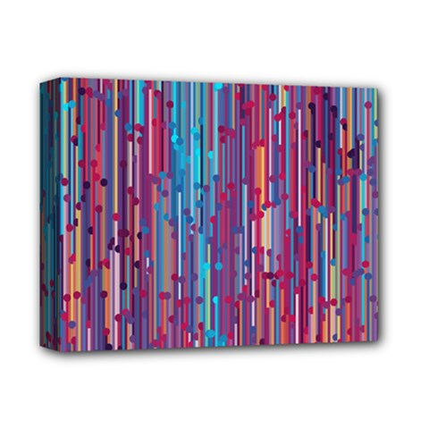 Vertical Behance Line Polka Dot Blue Green Purple Red Blue Black Deluxe Canvas 14  X 11  by Mariart