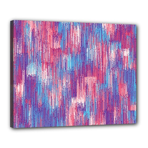 Vertical Behance Line Polka Dot Blue Green Purple Red Blue Small Canvas 20  X 16  by Mariart