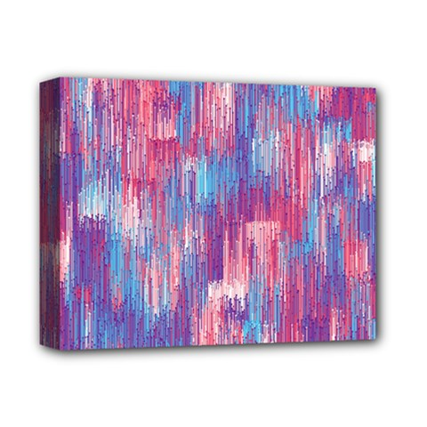Vertical Behance Line Polka Dot Blue Green Purple Red Blue Small Deluxe Canvas 14  X 11  by Mariart