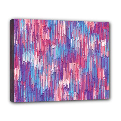 Vertical Behance Line Polka Dot Blue Green Purple Red Blue Small Deluxe Canvas 20  X 16   by Mariart