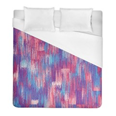 Vertical Behance Line Polka Dot Blue Green Purple Red Blue Small Duvet Cover (full/ Double Size) by Mariart