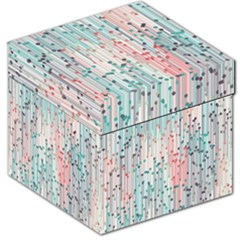 Vertical Behance Line Polka Dot Grey Pink Storage Stool 12   by Mariart