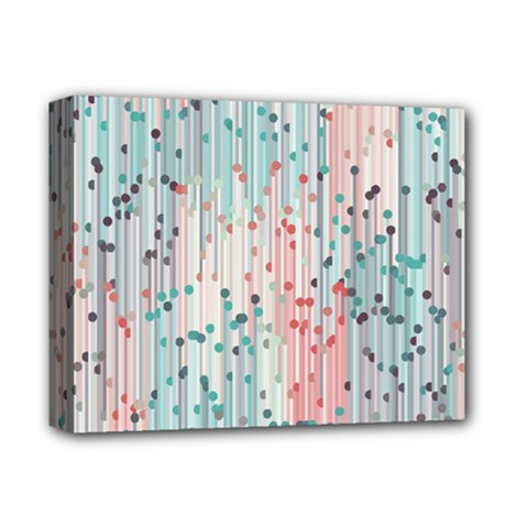 Vertical Behance Line Polka Dot Grey Pink Deluxe Canvas 14  X 11  by Mariart