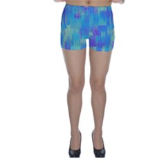Vertical Behance Line Polka Dot Purple Green Blue Skinny Shorts by Mariart