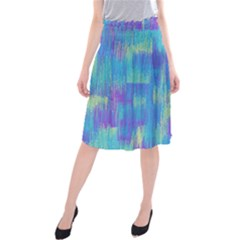 Vertical Behance Line Polka Dot Purple Green Blue Midi Beach Skirt by Mariart