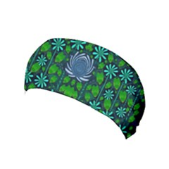 Strawberry Fantasy Flowers In A Fantasy Landscape Yoga Headband by pepitasart