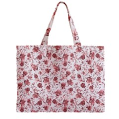 Floral Pattern Zipper Mini Tote Bag by ValentinaDesign
