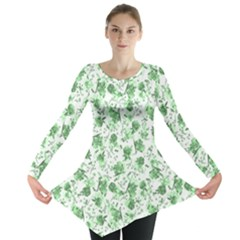 Floral Pattern Long Sleeve Tunic  by ValentinaDesign