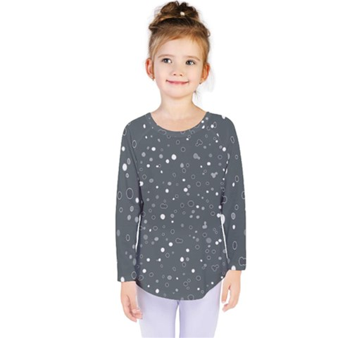 Dots Pattern Kids  Long Sleeve Tee by ValentinaDesign