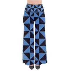 Triangle1 Black Marble & Blue Colored Pencil So Vintage Palazzo Pants by trendistuff