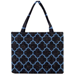 Tile1 Black Marble & Blue Colored Pencil Mini Tote Bag by trendistuff
