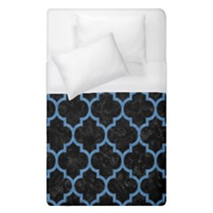 Tile1 Black Marble & Blue Colored Pencil Duvet Cover (single Size) by trendistuff