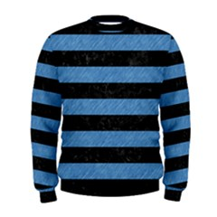 Stripes2 Black Marble & Blue Colored Pencil Men s Sweatshirt by trendistuff