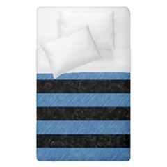 Stripes2 Black Marble & Blue Colored Pencil Duvet Cover (single Size) by trendistuff
