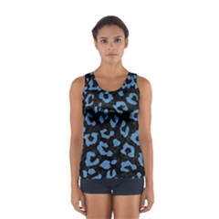 Skin5 Black Marble & Blue Colored Pencil (r) Sport Tank Top  by trendistuff