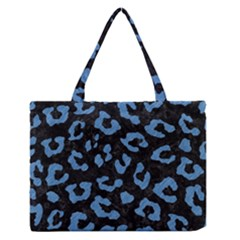 Skin5 Black Marble & Blue Colored Pencil (r) Medium Zipper Tote Bag by trendistuff
