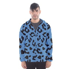 Skin5 Black Marble & Blue Colored Pencil Hooded Wind Breaker (men) by trendistuff