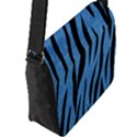 SKIN3 BLACK MARBLE & BLUE COLORED PENCIL (R) Flap Closure Messenger Bag (L) View2