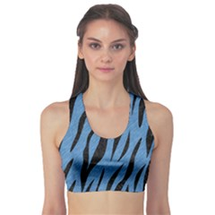 Skin3 Black Marble & Blue Colored Pencil (r) Sports Bra by trendistuff