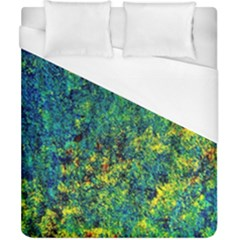 Flowers Abstract Yellow Green Duvet Cover (california King Size) by Costasonlineshop