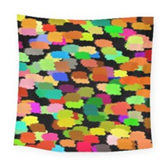 Colorful Paint On A Black Background                Fleece Blanket by LalyLauraFLM