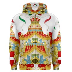 Coat Of Arms Of The Kingdom Of Italy Men s Zipper Hoodie by abbeyz71