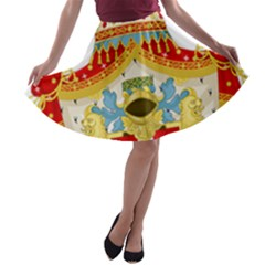 Coat Of Arms Of The Kingdom Of Italy A Line Skater Skirt