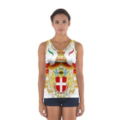 Coat Of Arms Of The Kingdom Of Italy Women s Sport Tank Top  by abbeyz71
