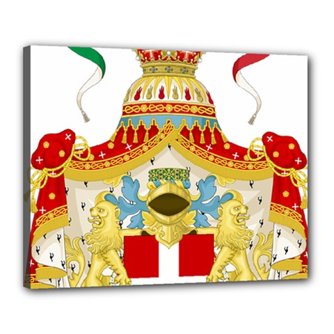 Coat Of Arms Of The Kingdom Of Italy Canvas 20  X 16  by abbeyz71
