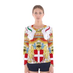 Coat Of Arms Of The Kingdom Of Italy Women s Long Sleeve Tee by abbeyz71