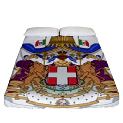 Greater Coat Of Arms Of Italy, 1870 1890 Fitted Sheet (california King Size) by abbeyz71