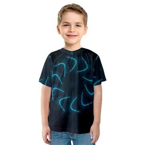 Background Abstract Decorative Kids  Sport Mesh Tee by Nexatart