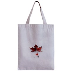 Winter Maple Minimalist Simple Zipper Classic Tote Bag by Nexatart
