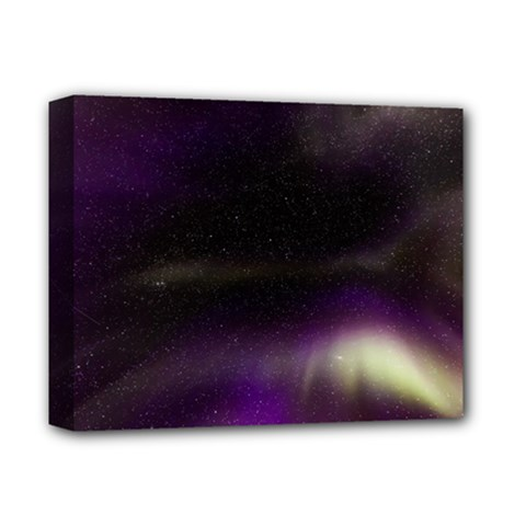 The Northern Lights Nature Deluxe Canvas 14  X 11  by Nexatart