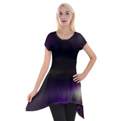 The Northern Lights Nature Short Sleeve Side Drop Tunic