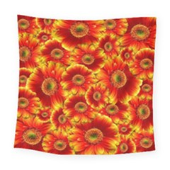 Gerbera Flowers Nature Plant Square Tapestry (large) by Nexatart