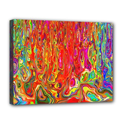 Background Texture Colorful Canvas 14  X 11  by Nexatart